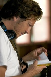 Director Gabriele Muccino on the set of