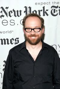 Paul Giamatti at the New York Times Arts and Leisure Weekend photo-op.