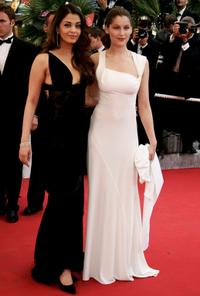 Aishwarya Rai and Laetitia Casta at the premiere of
