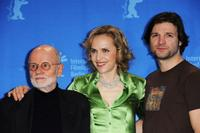 Guenter Rohrbach, Juliane Kohler and Misel Maticevic at the photocall of