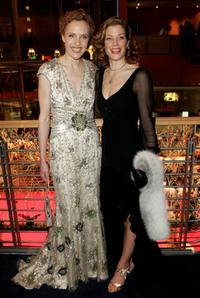 Juliane Kohler and Marie Baeumer at the Opening Party of the 57th Berlin International Film Festival (Berlinale).