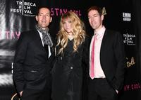 Michael Polish, Kimberley Gorden and Mark Polish at the after party of