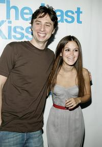 Zach Braff and Rachel Bilson at the listening party for