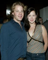 Andy Powers and Heather Donahue at the Los Angeles premiere of