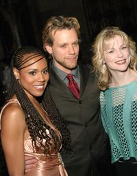 Deborah Cox, Adam Pascal and Lisa Brescia at the after party of the closing performance of AIDA.