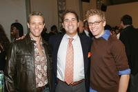 Adam Pascal, Paul Rosengard and Barret Foa at the Perry Ellis Spring 2006 fashion show during the Olympus Fashion Week.