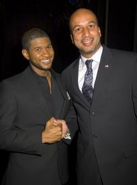 Ray Nagin and Usher Raymond at the Ambassador Theater.