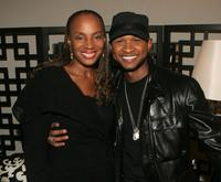 Susan L. Taylor and Usher Raymond at the Broadway play