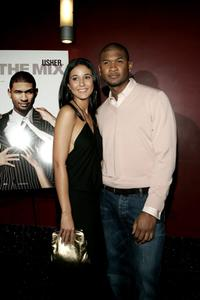 Emmanuelle Chriqui and Usher Raymond at the screening of
