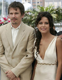 Ethan Hawke and Ana Claudia Talancon at the photocall of
