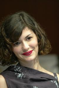 Audrey Tautou at the press conference for