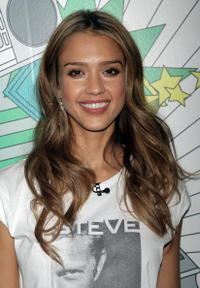 Jessica Alba at MTV's Total Request Live at the MTV Times Square Studios.