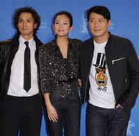 Masanobu Ando, Zhang Ziyi and Leon Lai at the photocall of