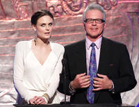 Emily Deschanel and Tony Denison at the 24th Genesis Awards in California.