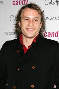 Heath Ledger at a N.Y. screening of