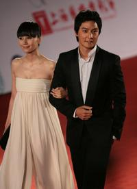 Quan Yuan and Daniel Wu at the opening ceremony of 11th Shanghai International Film Festival.