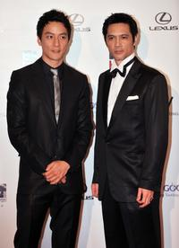 Daniel Wu and Masaya Kato at the Opening Ceremony of the 33rd HKIFF Gala premiere of