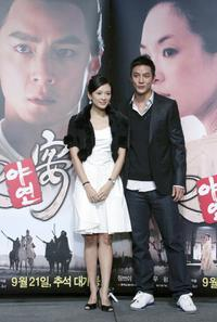 Zhang Ziyi and Daniel Wu at the press conference of