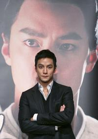 Daniel Wu at the press conference of