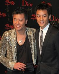 Peter Cheung and Daniel Wu at the premiere of
