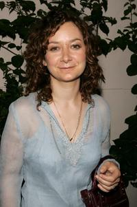 Sara Gilbert at the WB Network stars party.