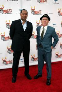 Cedric Yarbarough and Carlos Alazraqui at the Comedy Central Roast.