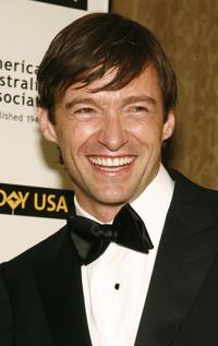 Hugh Jackman at the 2006 Australia Day Ball to honor Olivia Newton John.