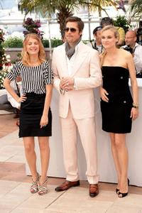 Melanie Laurent, Brad Pitt and Diane Kruger at the photocall of