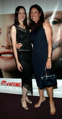 Susan May Pratt and Mimi Rogers at the premiere of