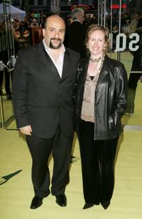 Omid Djalili and Annabel Knight at the world premiere of