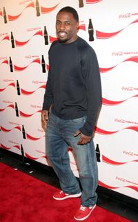 Idris Elba at the Coca Cola Make It Real party.