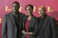 Idris Elba, Carole Karemera and director Raoul Peck at the photocall of