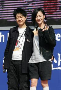 Director Susie An and Zhou Xun at the Pusan International Film Festival.