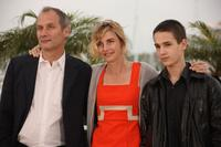 Hippolyte Girardot, Anne Consigny and Emile Berling at the photocall of