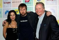 Krista Campbell, Tom Green and Jon Voight at the Los Angeles premiere of