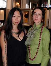 Jennie Lee and Jane Adams at the Olympus Fashion Week Spring 2006 fashion shows.