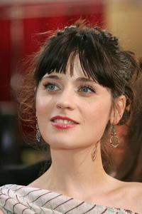 Actress Zooey Deschanel at the 77th Annual Academy Awards in Hollywood.