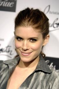 Kate Mara at the Saks Fifth Avenue cocktail party welcoming Christian Louboutin.