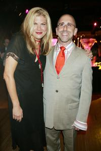 Kristen Johnston and Director Scott Elliott at the spring benefit for