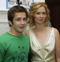 Michael Angarano and Cynthia Nixon at the TIFF after party of