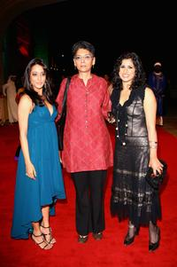 Raima Sen, Producer Shernaz Italia and Guest at the premiere of