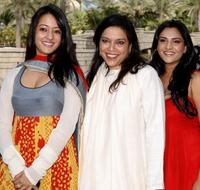 Raima Sen, director Mira Nair and Ramya at the photocall of