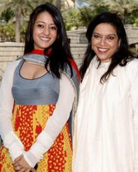 Raima Sen and director Mira Nair at the photocall of