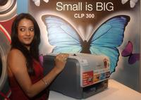 Raima Sen at the launch of new Samsung printers in New Delhi.