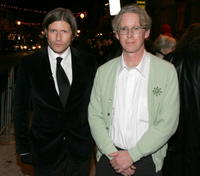 Crispin Glover and co-director David Brothers at the premiere of