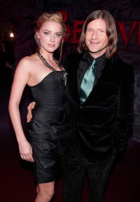 Amber Heard and Crispin Glover at the premiere of