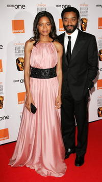 Actors Naomi Harris and Chiwetel Ejiofor at The Orange British Academy Film Awards in London.