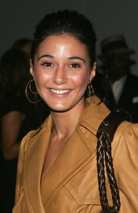 Emmanuelle Chriqui at the Tracy Reese Spring 2007 fashion show during the Olympus Fashion Week.