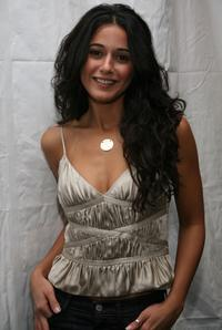 Emmanuelle Chriqui at the Mercedes Benz Fashion Week.
