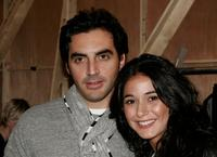 Yigal Azrouel and Emmanuelle Chriqui at the Yigal Azrouel Fall 2007 fashion show during the Mercedes-Benz Fashion Week.